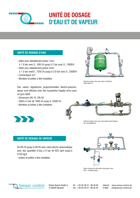 Download Infobrochure Water- and Damp Dosing Units | unité de dosage d'eau et de vapeur